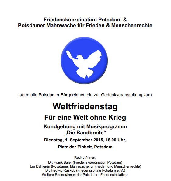 Weltfriedenstag 2015