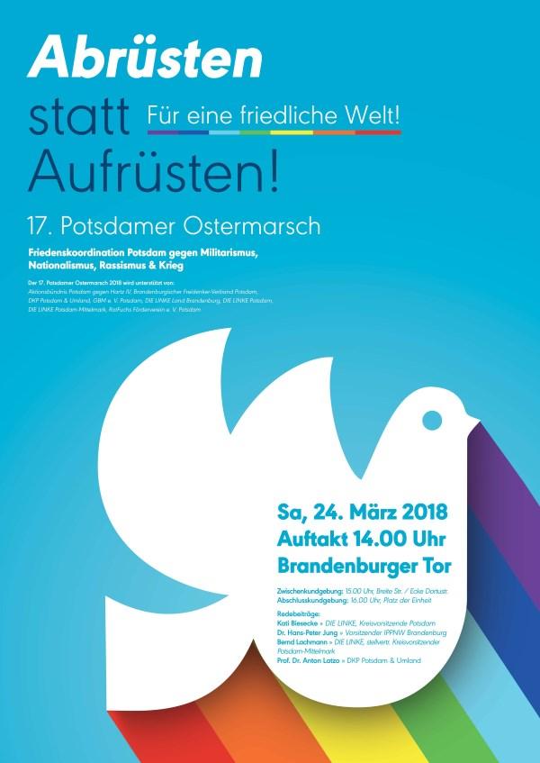 Plakat 17. Potsdamer Ostermarsch - 24.03.2018